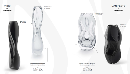 "Collection ""Crystal Architecture"" de Zaha Hadid"