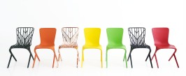 Chaises Washington de David Adjaye en polypropylène, Knoll