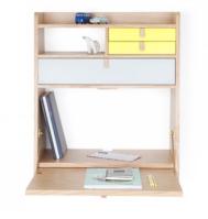 Bureau en plaqué chêne et laque mat, existe en 4 coloris, 60 x 32 x H 72cm, 525€,Harto design