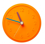 "Horloge Murale en aluminium de Richard Lampert, de 15 cm de diamètre. 75€ ""Néon"", The Conran Shop"