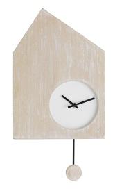 """Horloge à balancier, en panneaux de fibres de moyenne densité contreplaqués, paulownia et fer, 27x47 cm. 39,99€ """"House"""" Fly"""