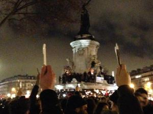 Place de la république JeSuisCharlie