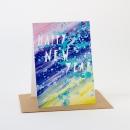 Carte Happy New Year, papier recyclé et encres végétales, 16x11cm, 3,50€, Yellow Owl Workshop