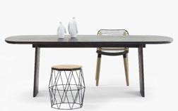 Table perpendic de Thinkk studio en chêne, Specimen Editions