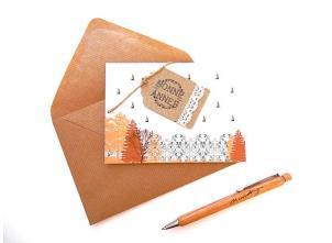 Carte vœux avec son enveloppe, 4€ PlumetisJoli chez Pitimana