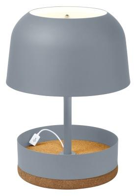 """Lampe à poser """"Hodge Podge"""" d'Arik Levy,composée d'une structure en métal d'une base en liège, Ø 29 x H 39,5 cm. 315€, Lightonline.fr"""