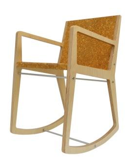 """Chaise à bascule """"La Gaby"""" de Clément Diaz, L 48 x P 36 x H 80 cm. 624€, Séries Limitées"""