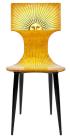 Piero Fornasetti, chaise « Sole », vers 1950 Bois. Imprimée, laquée et peinte à la main © Courtesy Fornasetti
