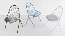 """Chaises """"Drapée"""" Petite Friture ©Photo Guisset"""