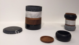 Boites empilables en bois et marbre Specimen Editions