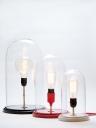 Lampe cloche en verre et socle en MDF. A partir de 99 €, Mon Ampoule Vintage