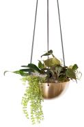 """Jardinière """"Hanging"""" à suspendre en cuivre ou laiton. 138€, Insekshop.com"""