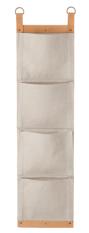 Porte journaux en cuire et toile de coton, 149€ Ferm Living