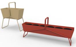"""Jardinière """"Basket longue"""" en fil d'acier L 119 x H 54 cm. 400 €, Fermob"""