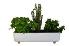 """Jardinière """"Blume"""" en céramique et piètements chêne massif L 48 x P 18 x H 11,06 cm. 175€, Bellila"""