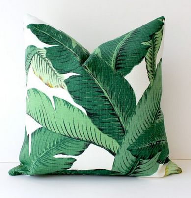 Coussin feuilles de bananiers, Whitlock and Co