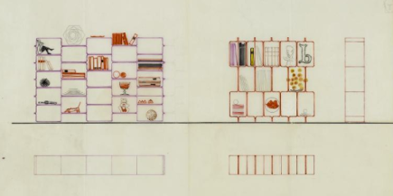 modules empilables, circa 1967
