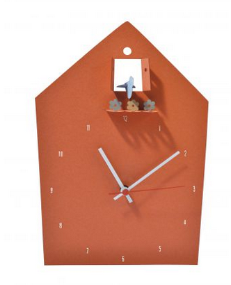 Horloge en papier recyclé, 30 x 20,5 cm. 29,50 €, Cocoboheme
