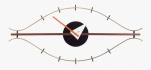 horloge-bois-et-laiton-forme-oeil-george-nelson-1948-1960-vitra