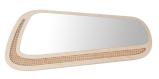 Miroir Andre en contreplaqué de bouleau et cannage, 46 x 98 cm, Blomkal