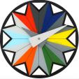 Horloge en acier et polymère de 43cm de diamètre. 75€, Persona Grata