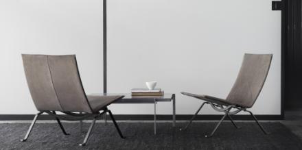 pk61-et-le-fauteuil-pk22-de-poul-kjaerholm-edite-par-fritz-hansen