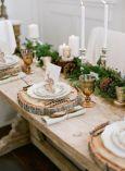 Ambiance foret pour cette table de Noël