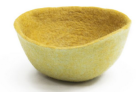 Calebasse en feutre, 24 cm x 11 cm 29€, Mushkane